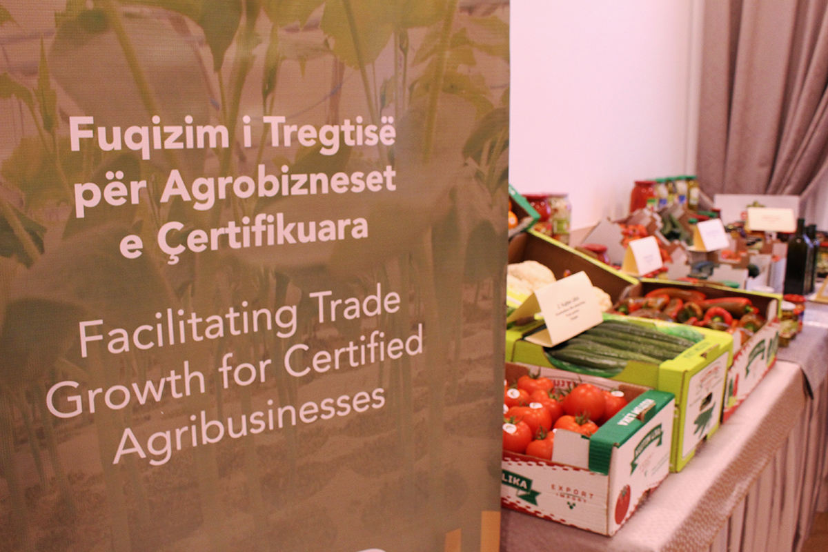 A mini fair with certified Albanian products organized at the Event. Photo: AgroWeb